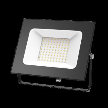 Светодиодный прожектор Gauss Elementary 613527100, IP65, LED 100W 3000K 6700lm CRI75, черный, металл, металл со стеклом