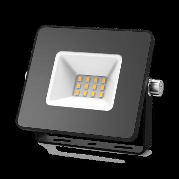 Светодиодный прожектор Gauss Elementary 613527110, IP65, LED 10W 3000K 670lm CRI75, черный, металл, металл со стеклом