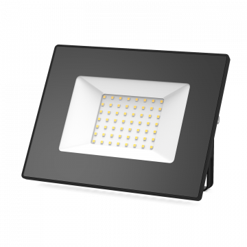 Светодиодный прожектор Gauss Elementary 613527150, IP65, LED 50W 3000K 3350lm, черный, металл, металл со стеклом