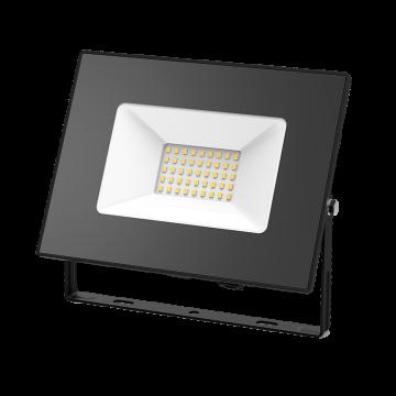 Светодиодный прожектор Gauss Elementary 613527170, IP65, LED 70W 3000K 4450lm CRI75, черный, металл, металл со стеклом