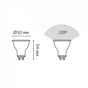 Схема с размерами Gauss Elementary 13619