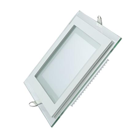 Светодиодная панель Gauss 948111112, LED 12W 3000K 900lm CRI>80, белый, металл со стеклом
