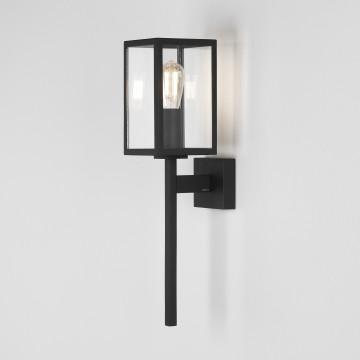 Настенный фонарь Astro Coach 1369003 (8190), IP44, 1xE14x60W, черный, прозрачный, металл, стекло