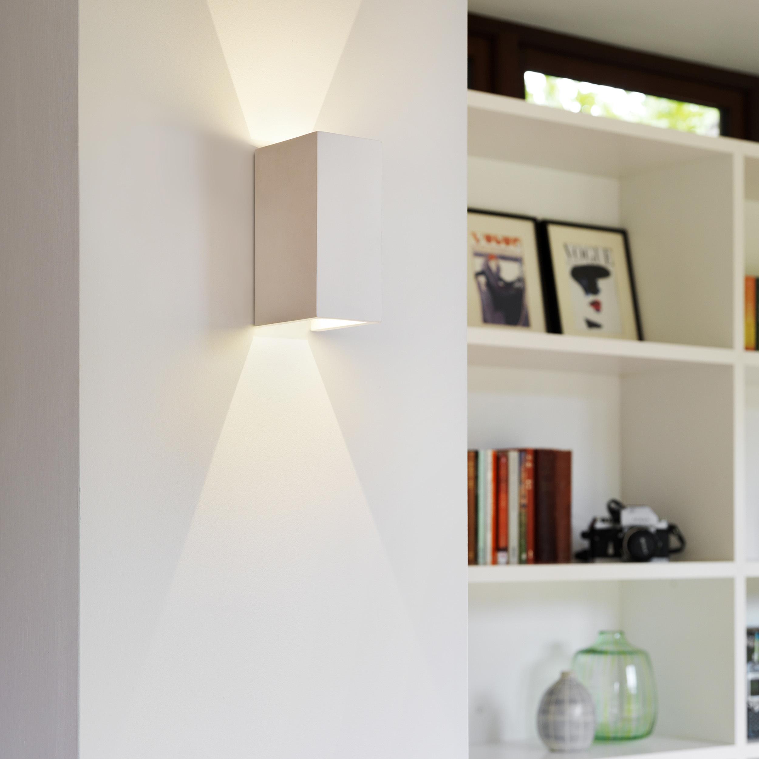 Настенный светодиодный светильник Astro Parma 1187021 (8182), LED 7,7W 3000K 503.6lm CRI80, белый, под покраску, гипс - фото 3