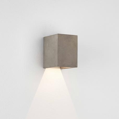 Настенный светодиодный светильник Astro Oslo Concrete 1298019 (8184), IP65, LED 3,9W 3000K 60.79lm CRI80, серый, бетон, стекло