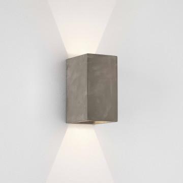 Настенный светодиодный светильник Astro Oslo Concrete 1298020 (8185), IP65, LED 6,1W 3000K 117.44lm CRI80, серый, бетон, стекло