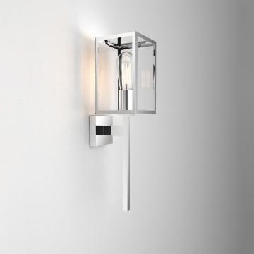 Настенный фонарь Astro Coach 1369002 (8160), IP44, 1xE27x60W, хром, прозрачный, металл, стекло