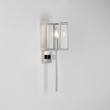 Настенный фонарь Astro Coach 1369004 (8191), IP44, 1xE14x60W, хром, прозрачный, металл, стекло