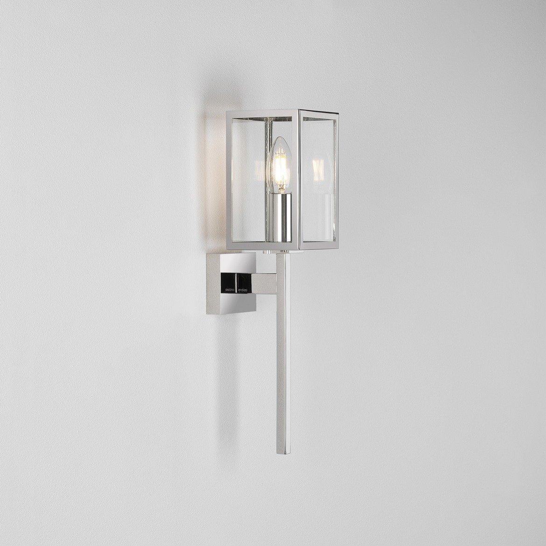 Настенный фонарь Astro Coach 1369004 (8191), IP44, 1xE14x60W, хром, прозрачный, металл, стекло - фото 1