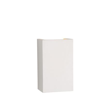 Настенный светильник Lucide Gipsy 35201/18/31, 1xG9x40W, белый, под покраску, гипс