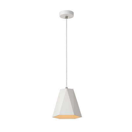 Подвесной светильник Lucide Gipsy 35404/20/31, 1xE27x60W, белый, под покраску, металл, гипс