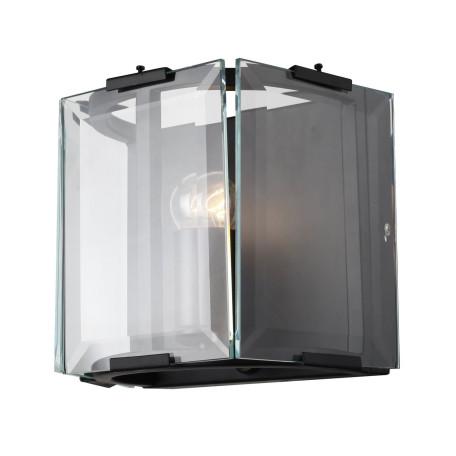 Настенный светильник ST Luce Peltro SL276.401.01, 1xE27x60W, черный, прозрачный, металл, стекло