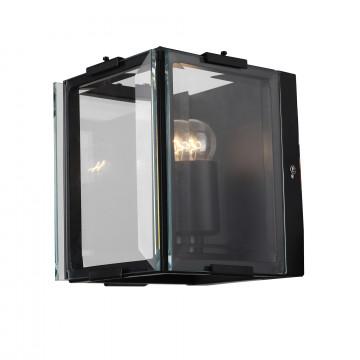 Настенный светильник ST Luce Peltro SL276.411.01, 1xE27x60W, черный, прозрачный, металл, стекло