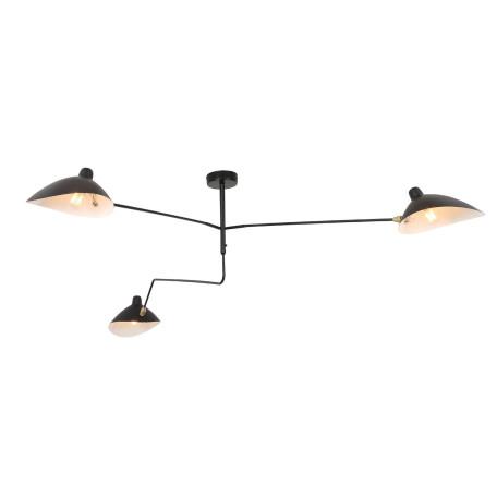 Потолочная люстра с регулировкой направления света ST Luce Spruzzo SL305.402.03, 3xE27x60W, черный, металл