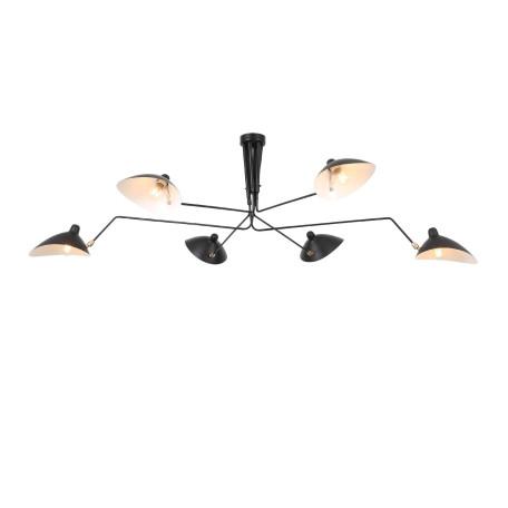 Потолочная люстра с регулировкой направления света ST Luce Spruzzo SL305.402.06, 6xE27x60W, черный, металл