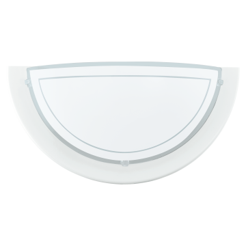 Настенный светильник Eglo Planet 1 83154, 1xE27x60W, белый, металл, стекло