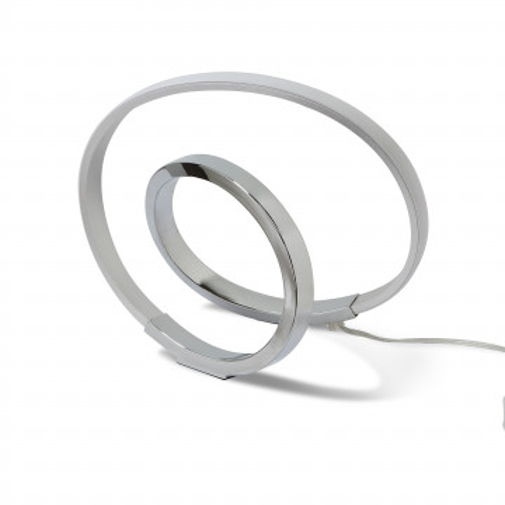Настольная лампа Mantra Infinity 5383, хром, белый с хромом, металл, пластик