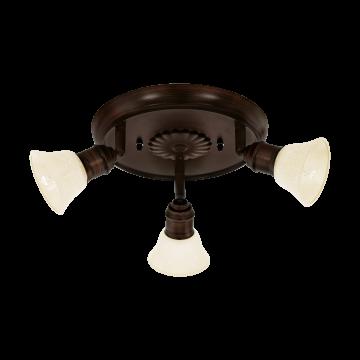 Потолочная люстра с регулировкой направления света Eglo Alamo 89061, 3xG9x33W, коричневый, бежевый, металл, стекло - миниатюра 1
