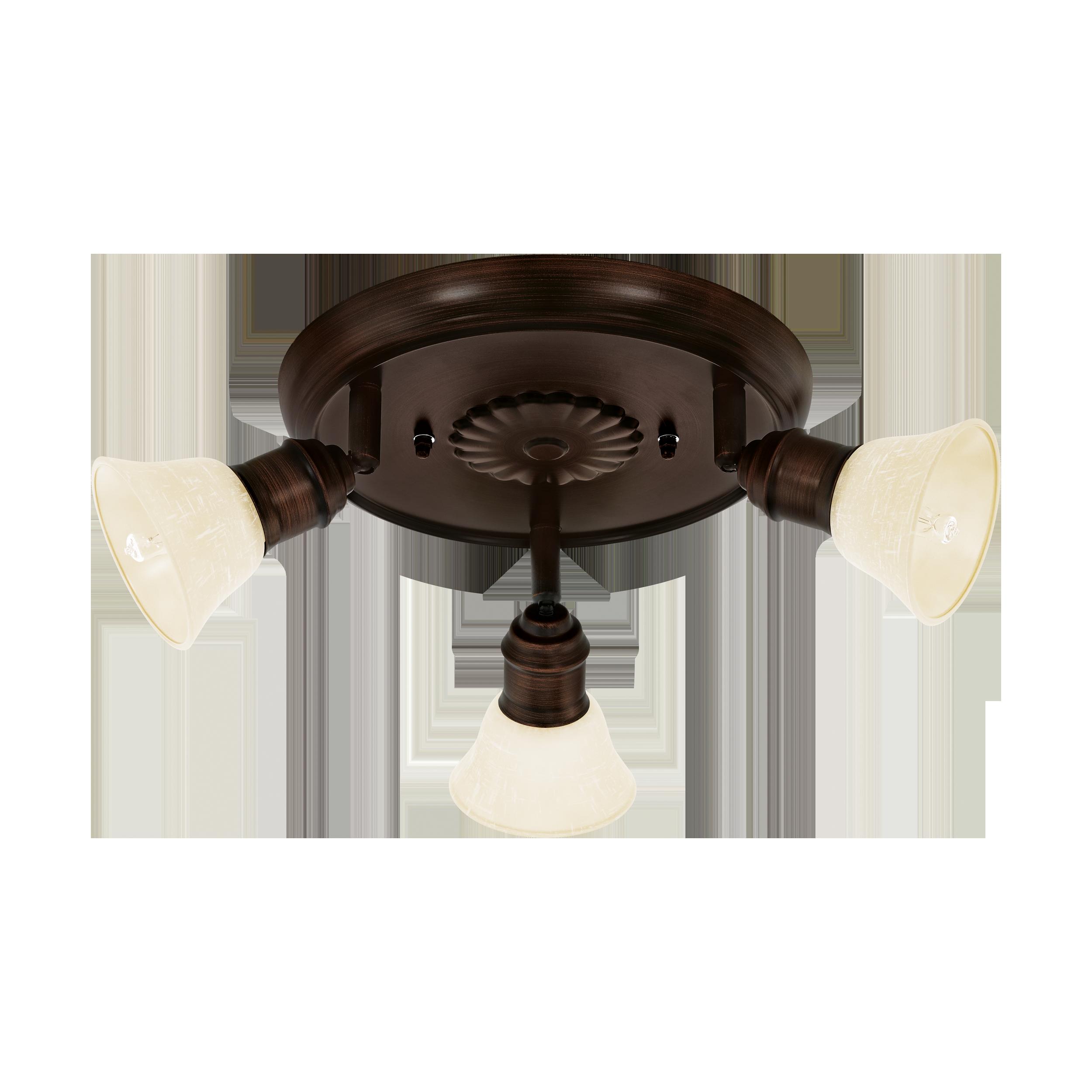 Потолочная люстра с регулировкой направления света Eglo Alamo 89061, 3xG9x33W, коричневый, бежевый, металл, стекло - фото 1