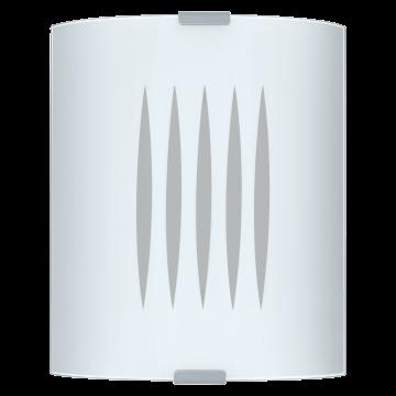 Потолочный светильник Eglo Grafik 83132, 1xE27x60W, серебро, белый, металл, стекло
