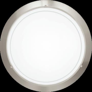 Потолочный светильник Eglo Planet 1 83162, 1xE27x60W, никель, белый, металл, стекло