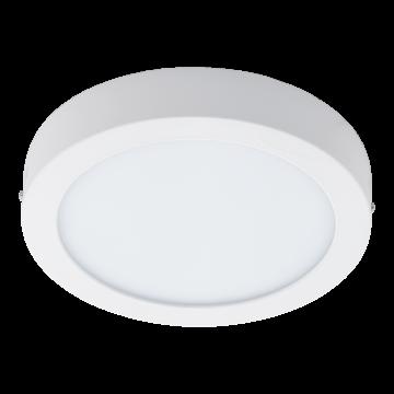 Потолочный светодиодный светильник Eglo Fueva 1 96168, IP44, LED 22W 3000K 2200lm, белый, металл со стеклом/пластиком, пластик