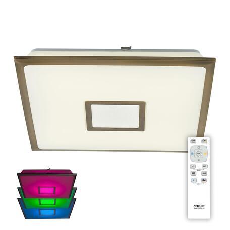 Потолочный светодиодный светильник с пультом ДУ Citilux Старлайт CL703K53RGB, LED 50W 3000-4500K + RGB 3500lm, белый, бронза, пластик