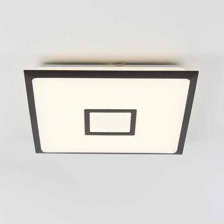 Потолочный светодиодный светильник с пультом ДУ Citilux Старлайт CL703K55RGB, LED 50W 3000-4500K + RGB 3500lm, белый, венге, пластик