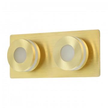 Потолочный светодиодный светильник De Markt Пунктум 549020502, IP44, LED 10W 3000K, матовое золото, металл