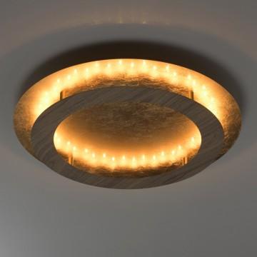 Потолочный светодиодный светильник De Markt Иланг 712011201, LED 24W 3000K, матовое золото, коричневый, металл