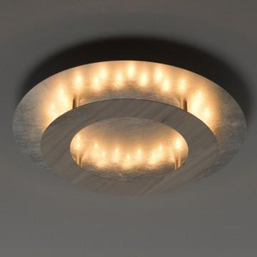 Потолочный светодиодный светильник De Markt Иланг 712011301, LED 18W 3000K, серебро, коричневый, металл