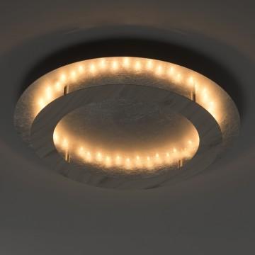 Потолочный светодиодный светильник De Markt Иланг 712011401, LED 24W 3000K, серебро, коричневый, металл