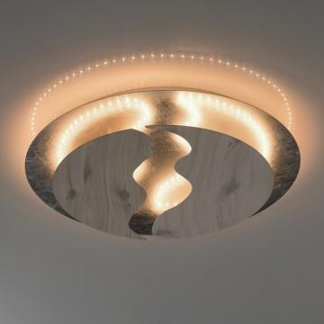 Потолочный светодиодный светильник De Markt Иланг 712011601, LED 45W 3000K, серебро, коричневый, металл