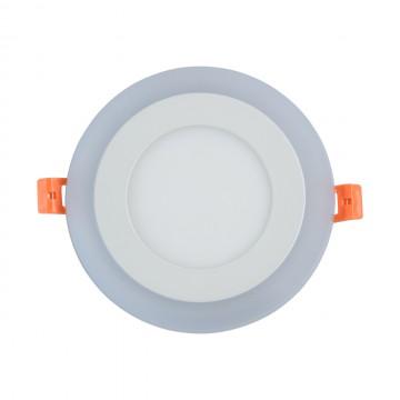 Встраиваемая светодиодная панель De Markt Норден 660013201, LED 9W 3000K + 6000K, белый, металл с пластиком, пластик