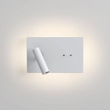 Настенный светодиодный светильник с регулировкой направления света с дополнительной подсветкой Astro Edge Mini 1352018 (8408), LED 13,8W 2700K 112lm CRI80, белый, металл