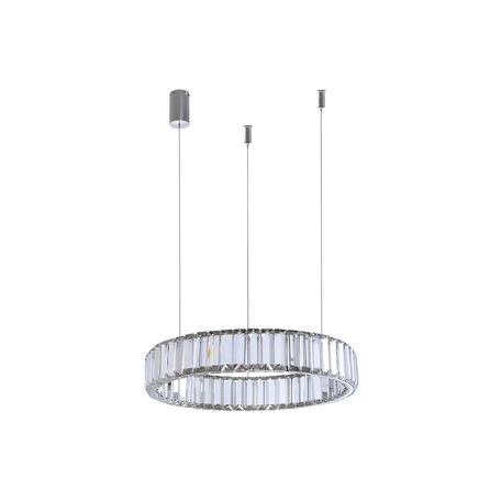 Подвесной светодиодный светильник Newport 15850 15851/S chrome, LED 11W 3000K 990lm, прозрачный, хрусталь