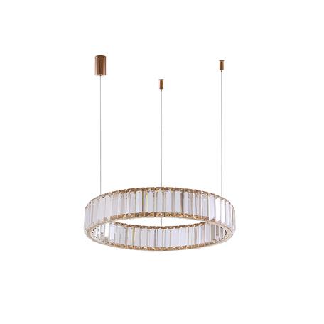 Подвесной светодиодный светильник Newport 15850 15851/S gold, LED 11W 3000K 990lm, прозрачный, хрусталь