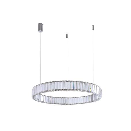 Подвесной светодиодный светильник Newport 15850 15852/S chrome, LED 17W 3000K 1530lm, прозрачный, хрусталь