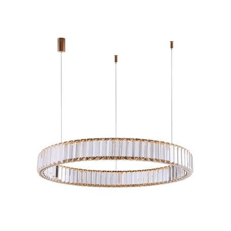 Подвесной светодиодный светильник Newport 15850 15852/S gold, LED 17W 3000K 1530lm, прозрачный, хрусталь