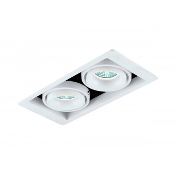 Встраиваемый светильник Donolux Lumme DL18615/02WW-SQ White/Black, 2xGU10x50W, белый