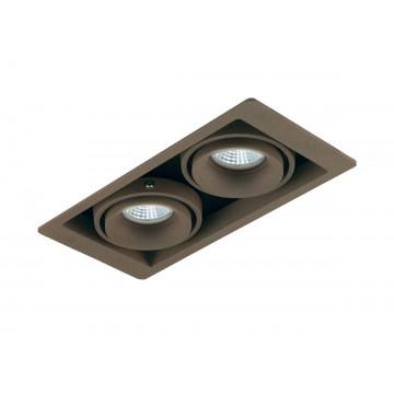 Встраиваемый светильник Donolux Lumme DL18615/02WW-SQ Champagne/Black, 2xGU10x50W