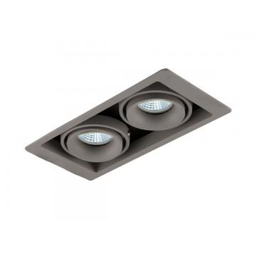 Встраиваемый светильник Donolux Lumme DL18615/02WW-SQ Silver Grey/Black, 2xGU10x50W