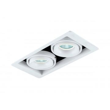 Встраиваемый светильник Donolux Lumme DL18615/02WW-SQ White/Black, 2xGU10x50W