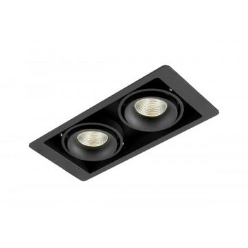 Встраиваемый светильник Donolux Lumme DL18615/02WW-SQ Shiny black/Black, 2xGU10x50W