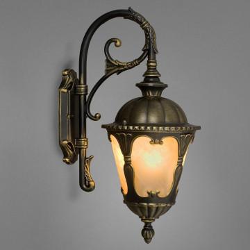 Настенный фонарь Nowodvorski Tybr 4686, IP44, 1xE27x60W, бронза, металл, стекло
