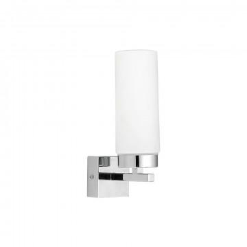 Настенный светильник Nowodvorski Celtic 3346, IP44, 1xE14x40W, хром, белый, металл, стекло