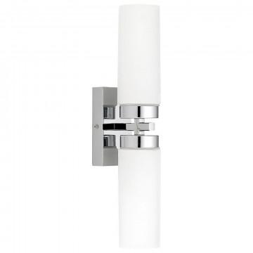 Настенный светильник Nowodvorski Celtic 3347, IP44, 2xE14x40W, хром, белый, металл, стекло