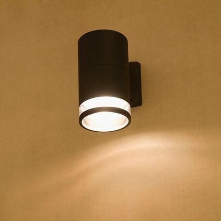 Настенный светильник Nowodvorski Rock 3405, IP44, 1xE27x60W, черный, прозрачный, металл, стекло