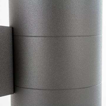 Настенный светильник Nowodvorski Rock 3407, IP44, 2xE27x60W, черный, черный с прозрачным, металл, металл со стеклом, стекло - миниатюра 4