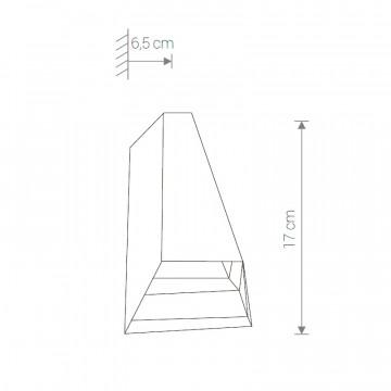Схема с размерами Nowodvorski 4441